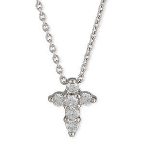 Roberto coin tiny treasures cross diamond necklace